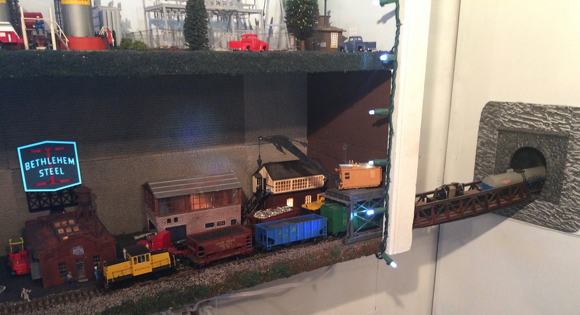 Bethlehem Steel model train layout