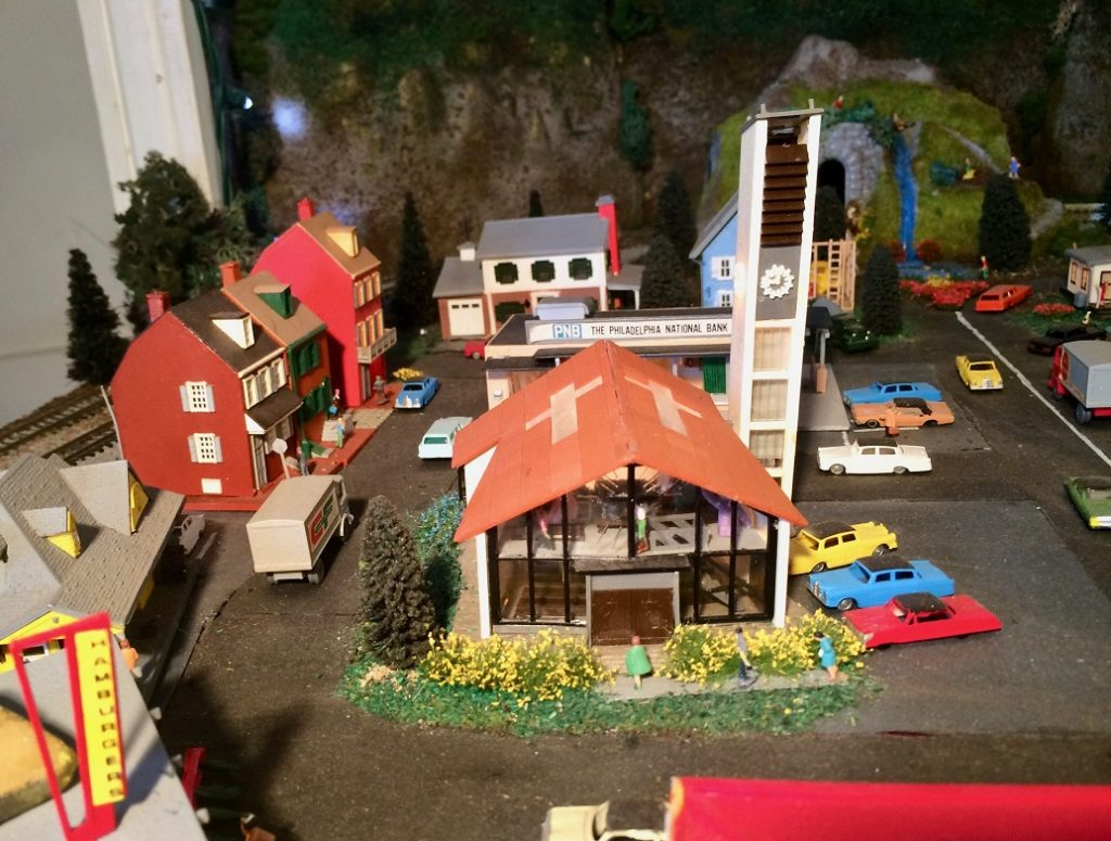 N Scale model railroad layout
