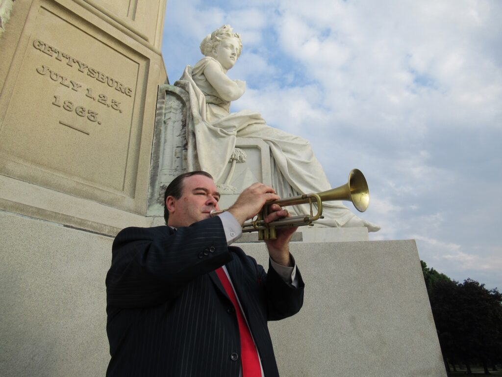 Vince Pettinelli at Gettysburg for 100 Nights of Taps